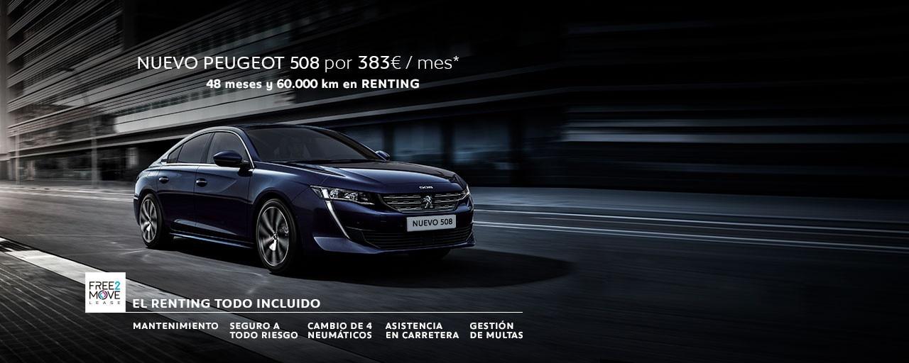 Nuevo Peugeot 508 - Renting Free2Move Septiembre