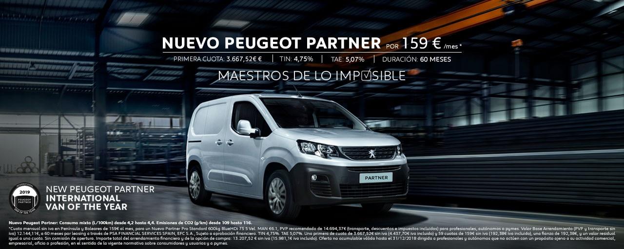 Nuevo Peugeot Partner Cuotas Showroom