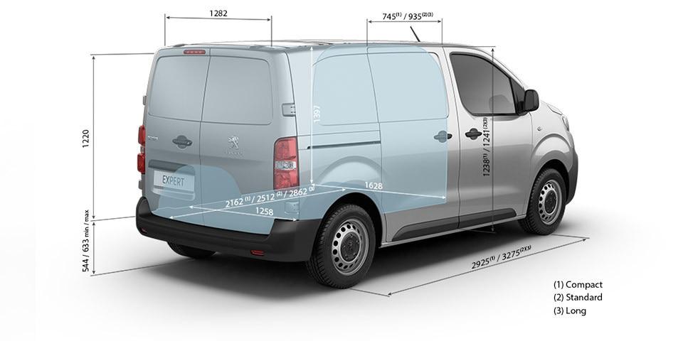 Peugeot Expert Furgón dimensiones interior