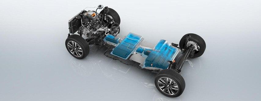 Nuevo SUV eléctrico PEUGEOT e-2008 para profesionales: base rodante eléctrica