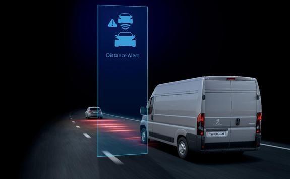 Ayudas a la conducción del Peugeot Boxer - Distance Alert
