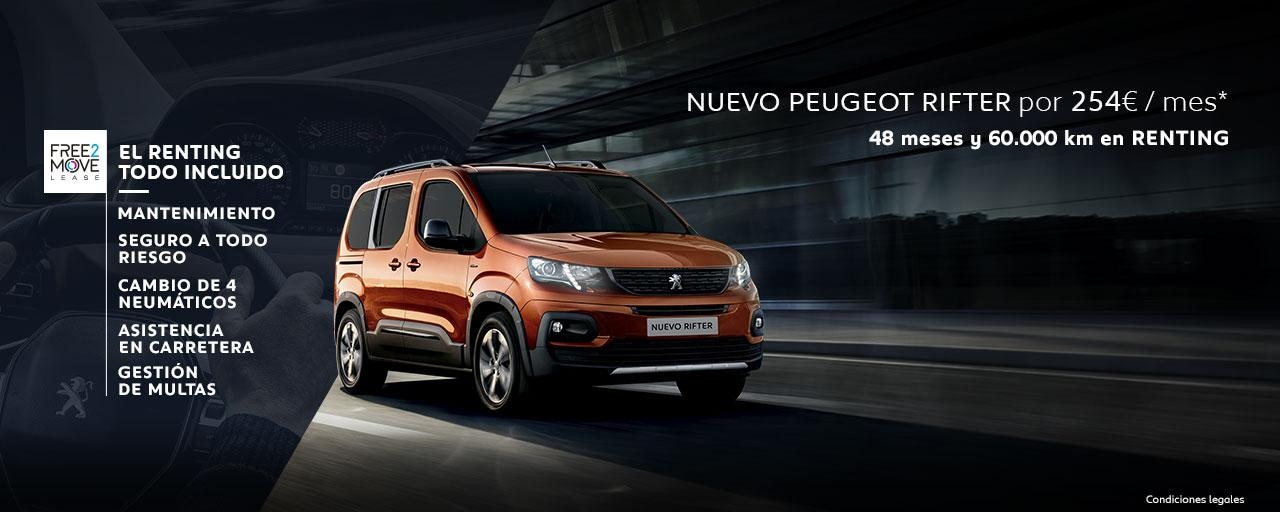 Nuevo Peugeot Rifter Renting Free2Move Julio
