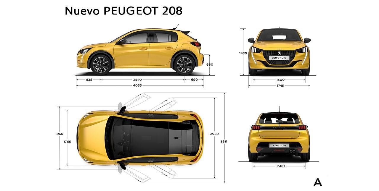 Nuevo Peugeot 208 - Dimensiones