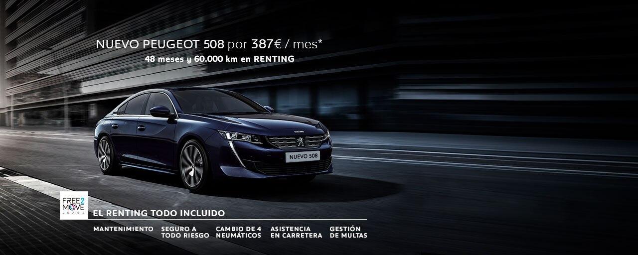 Mainbanner Nuevo Peugeot 508 Renting Mayo