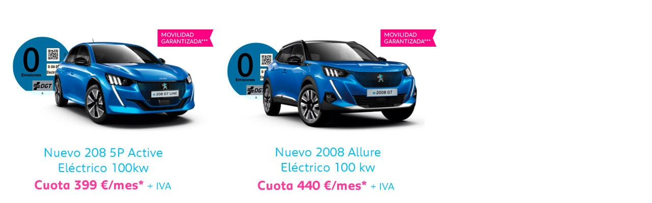 Gama Peugeot eléctricos Free2Move