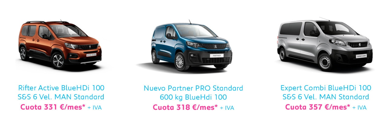 Gama Peugeot comerciales Free2Move