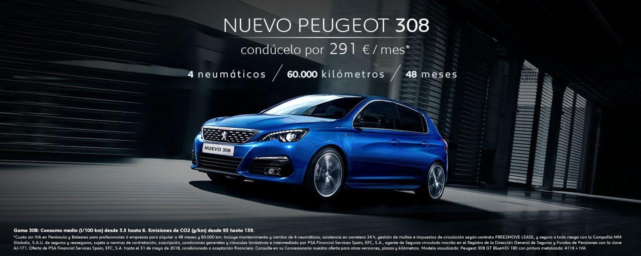 Mainbanner Peugeot 308 Free2Move Mayo