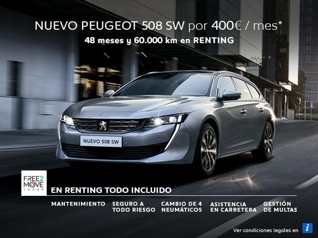 Nuevo Peugeot 508 SW Renting Free2Move