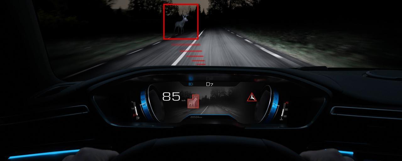Tecnología Night Vision, para mejorar la visión nocturna - Nuevo familiar PEUGEOT 508 SW para profesionales