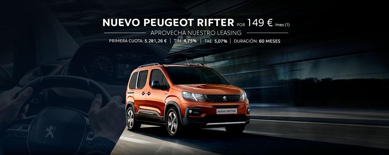 Nuevo Peugeot Rifter - Leasing