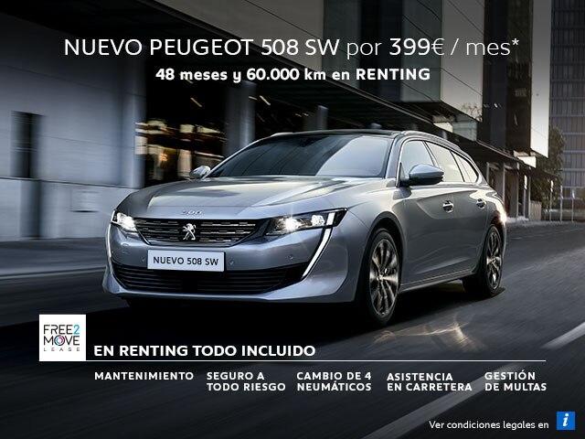 Nuevo Peugeot 508 SW Renting Free2Move Móvil