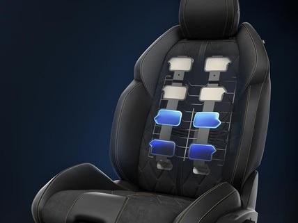 Asientos AGR con ajuste eléctrico y memoria, calefactados y dotados de masaje multipunto - nueva berlina PEUGEOT 508 para los profesionales