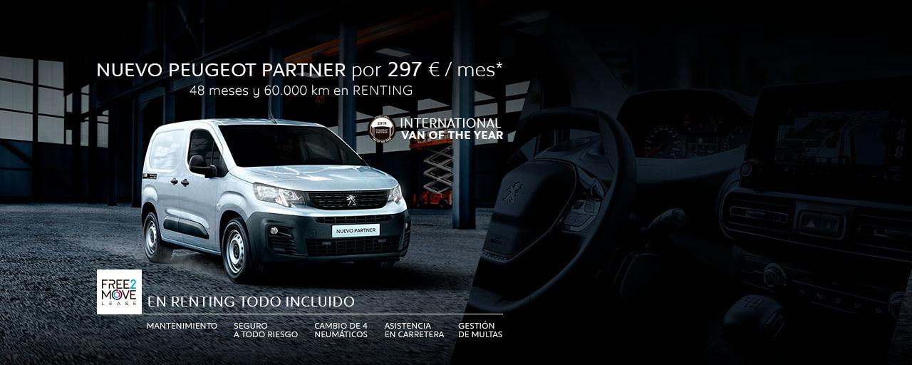 Mainbanner Nuevo Peugeot Partner Free2Move Renting