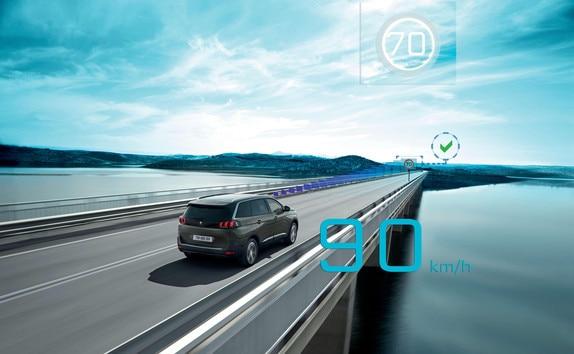 SUV PEUGEOT 5008 : Reconocimiento de las señales de limitación