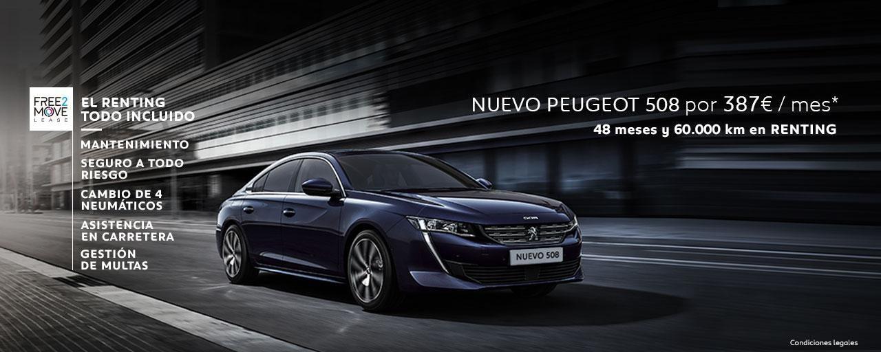 Mainbanner Nuevo Peugeot 508 Renting Free2Move Mayo