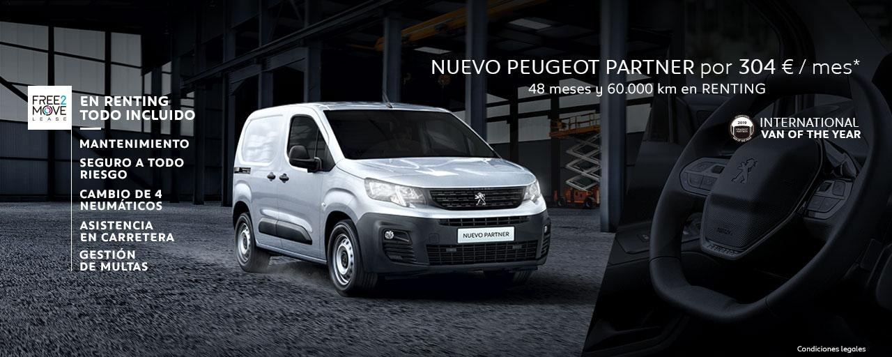 Nuevo Peugeot Partner Renting Free2Move Mayo