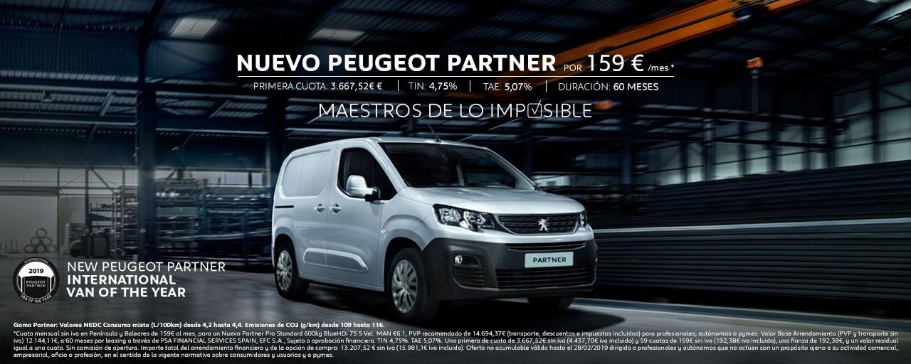 Mainbanner Nuevo Peugeot Partner