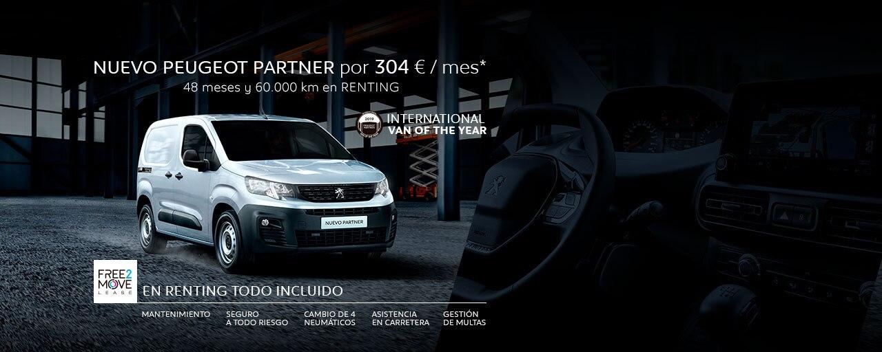Nuevo Peugeot Partner Renting Free2Move Showroom Mayo